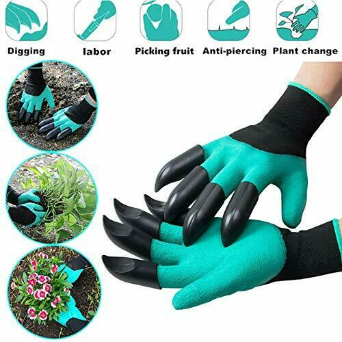 GiardinoTools Waterproof Gardening Gloves with Claws Digging Planting