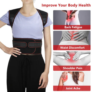 PostureZone Tourmaline Self-Heating Magnetic Therapy Posture Corrector