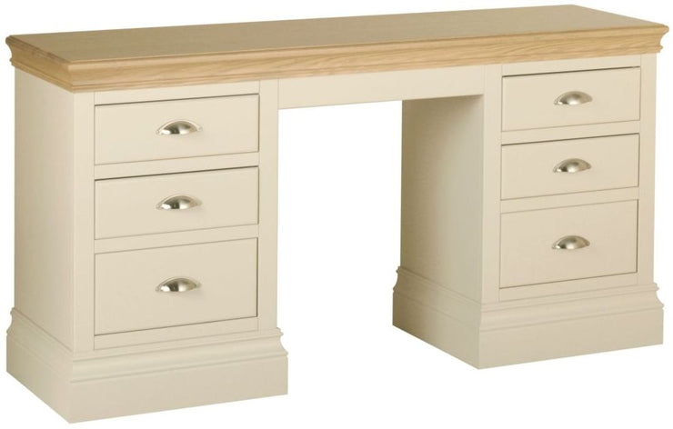 Lundy Painted Double Pedestal Dressing Table
