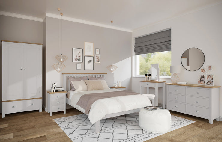 Stratford Truffle Dove Grey Painted Bed