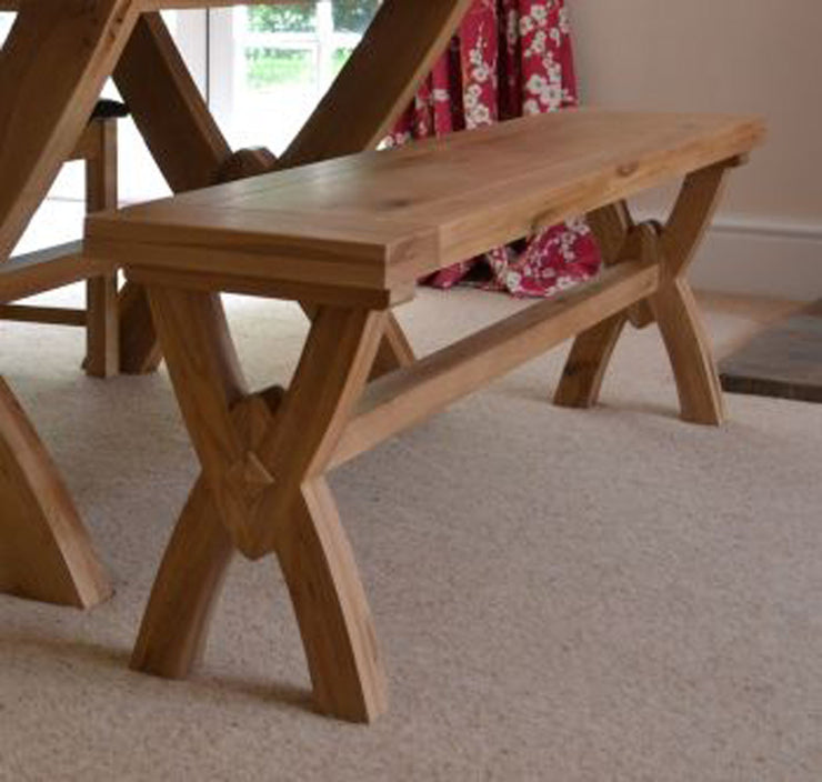 Wessex Oak Ox Bow Small Bench