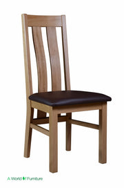 Bergen Oak Twin Slat Dining Chair