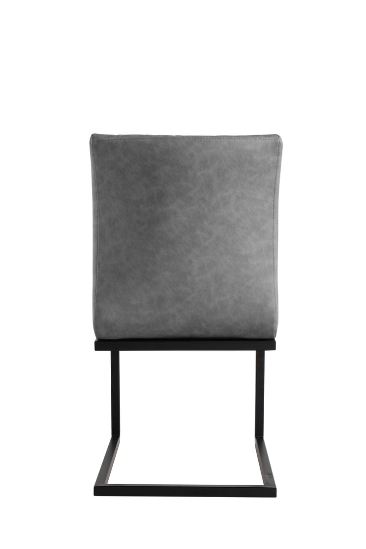 CH22-GR Diamond Stitch Dining Chair - Grey