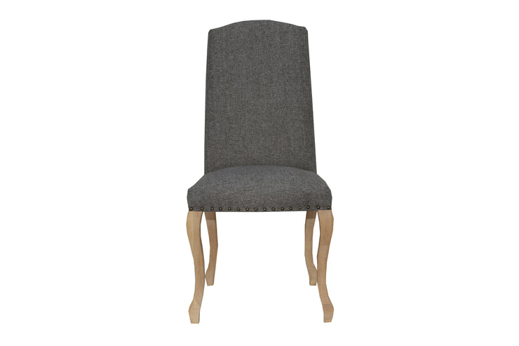 Luxury Chair with Studs - Dark Grey