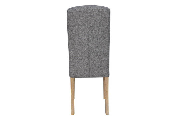 CH34-LG Button Back Upholstered Chair - Light Grey