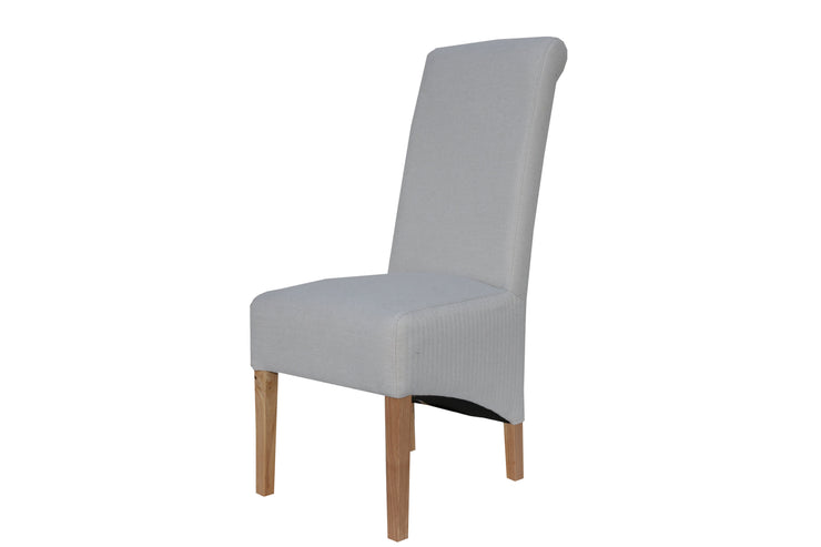 Scroll Back Chair - Natural
