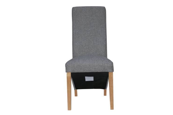 Wave Back Fabric Chair - Light Grey