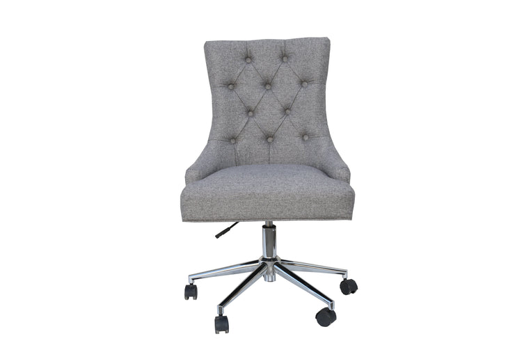 CH39-LG Winged Button Back Office Chair with Chrome Legs