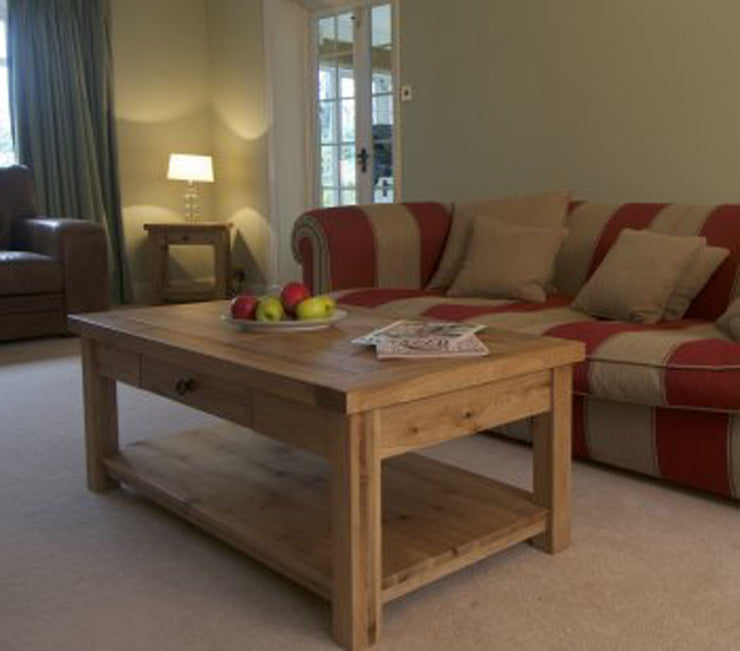 Wessex Oak Coffee Table with Drawer