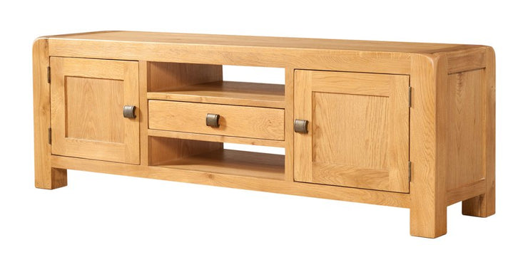 Curvus Oak 2 Door Widescreen TV Cabinet