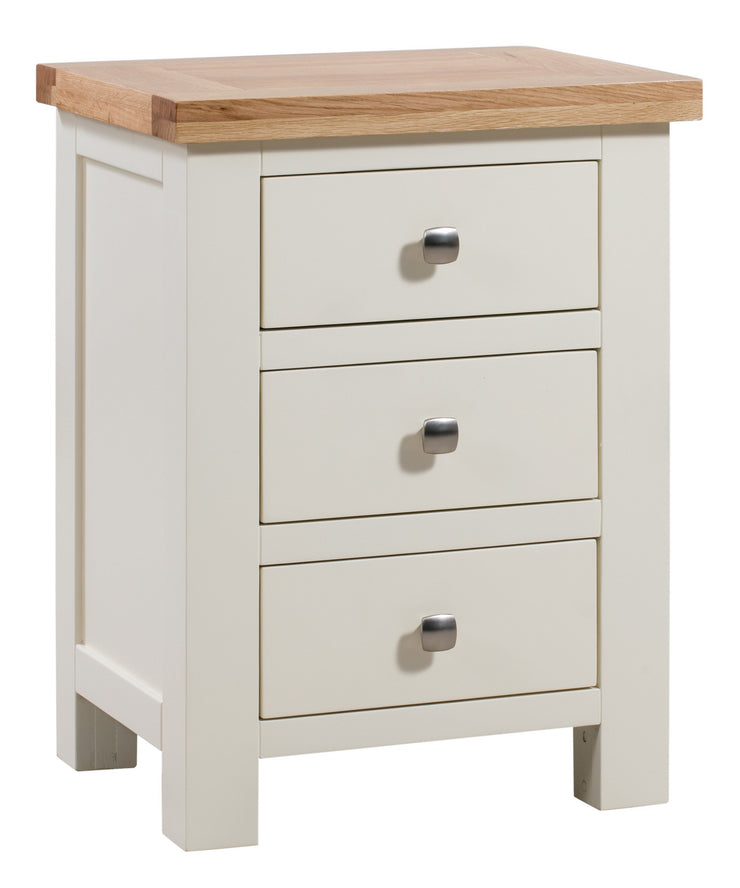 Dorset Ivory Painted 3 Drawer Bedside Table