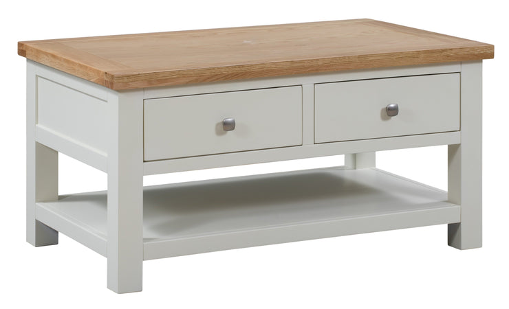 Dorset Ivory Painted Coffee Table with 2 Drawers