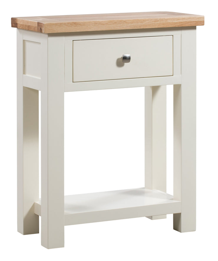 Dorset Ivory Painted 1 Drawer Console Table