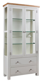 Dorset Ivory Painted Display Cabinet