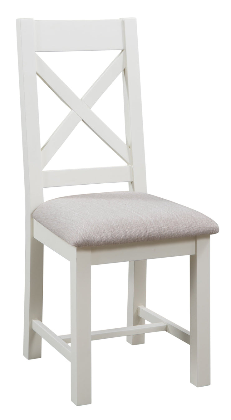 Dorset Ivory Painted Cross Back Chair