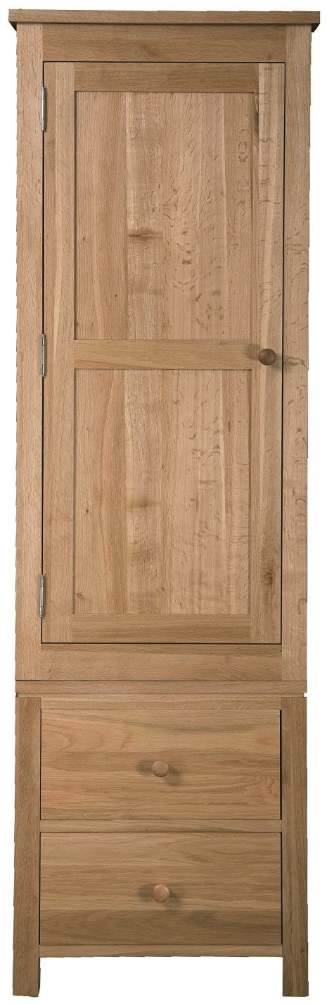 Dinton Oak 1 Door 2 Drawer Wardrobe