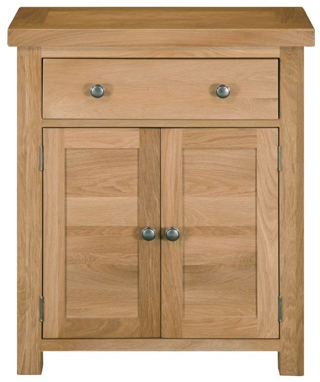 Dinton Oak 1 Drawer 2 Door Large Cabinet