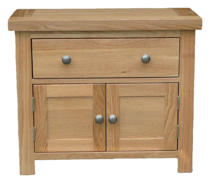 Dinton Oak 1 Drawer 2 Door Small Cabinet