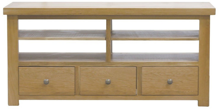 Dinton Oak 3 Drawer TV & Media Unit
