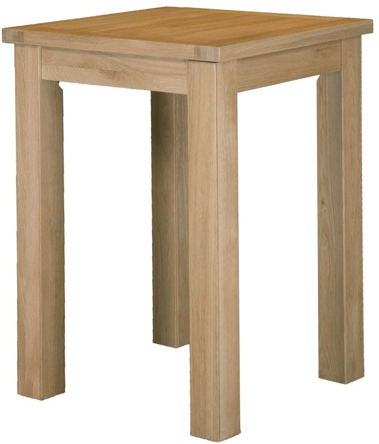 Dinton Oak Square Tall Bar Table (Various Sizes)