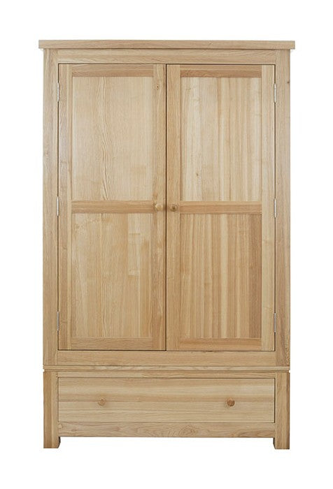 Dinton Oak Double Wardrobe with Drawer