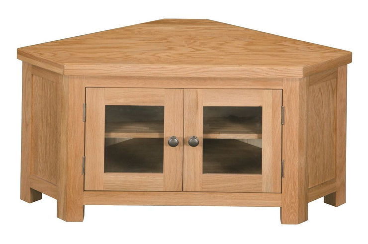 Dinton Oak Glazed Corner TV Media Unit