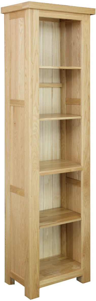 Dinton Oak Slim Bookcase