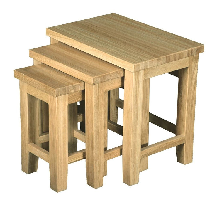 Dinton Oak Small Nest of 3 Tables