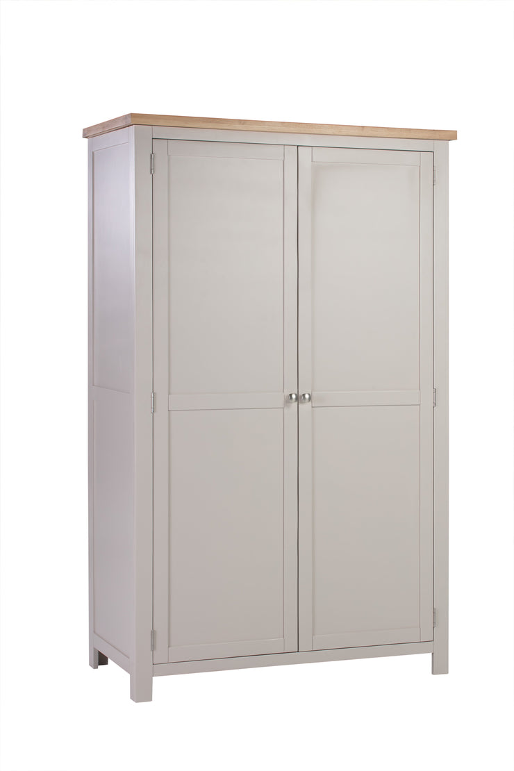 Dorset Putty Painted Double Full Hanging Wardrobe