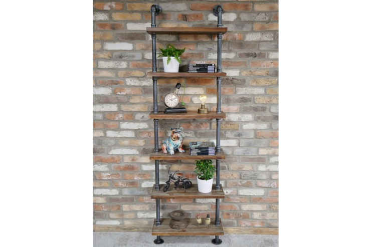 Pipe Shelves Floor Standing Wall Mounted