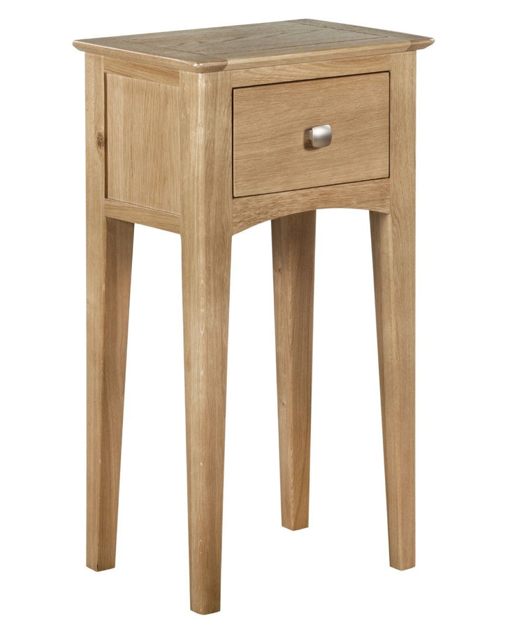 Eva Oak 1 Drawer Telephone Table