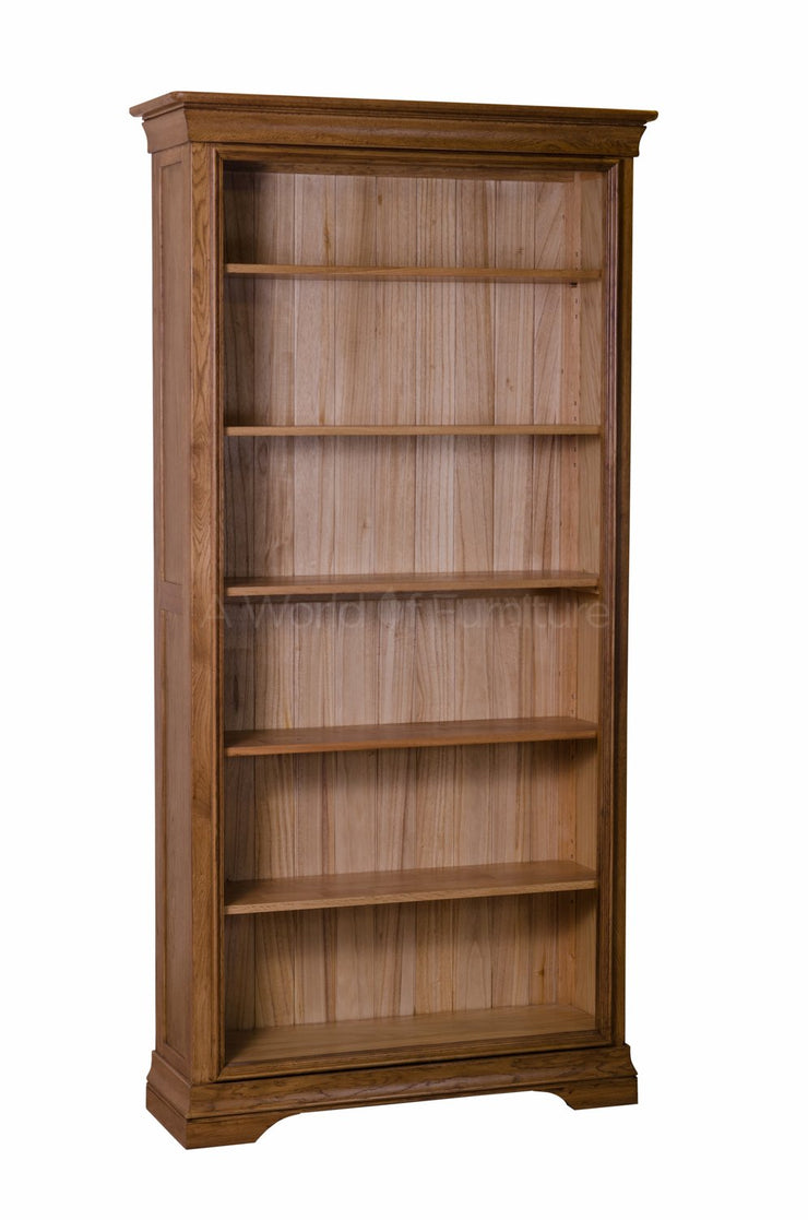 French Oak Tall Bookcase
