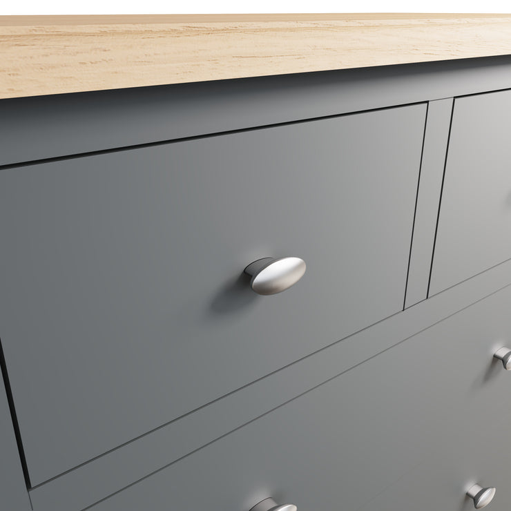 Riva Grey 2 Over 3 Chest Of Drawers