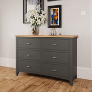 Riva Grey 6 Drawer Chest Of Drawers