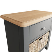 Riva Grey 1 Drawer 1 Basket Unit