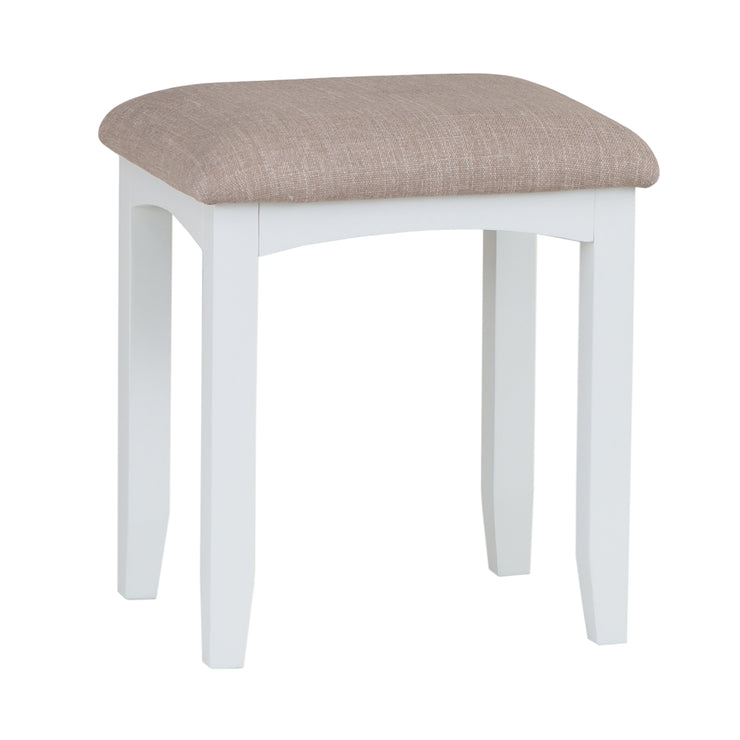 Riva White Dressing Table Stool