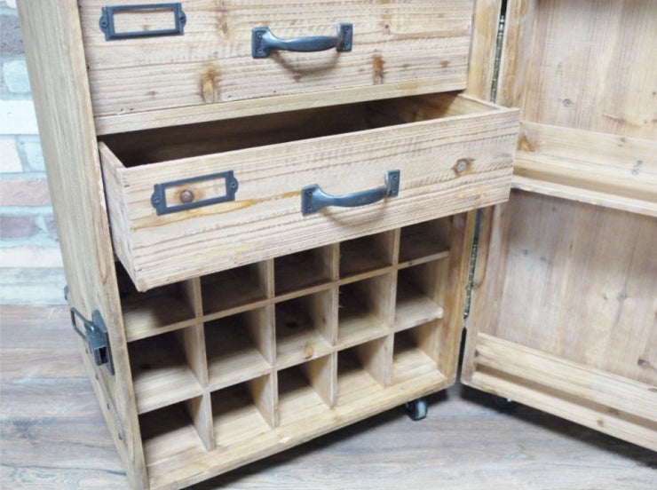 Hidden Wine Cabinet on Wheels