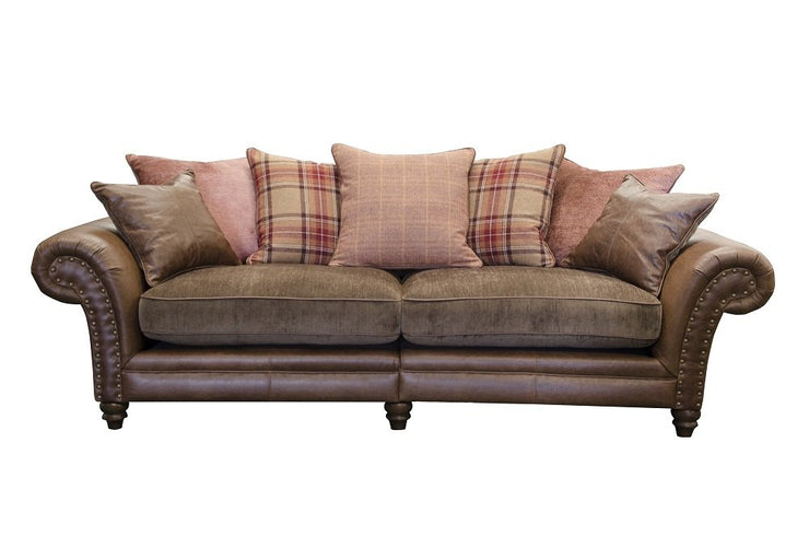 Hudson 4 Seater Pillow Back Sofa