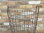 Industrial Wire Basket Table