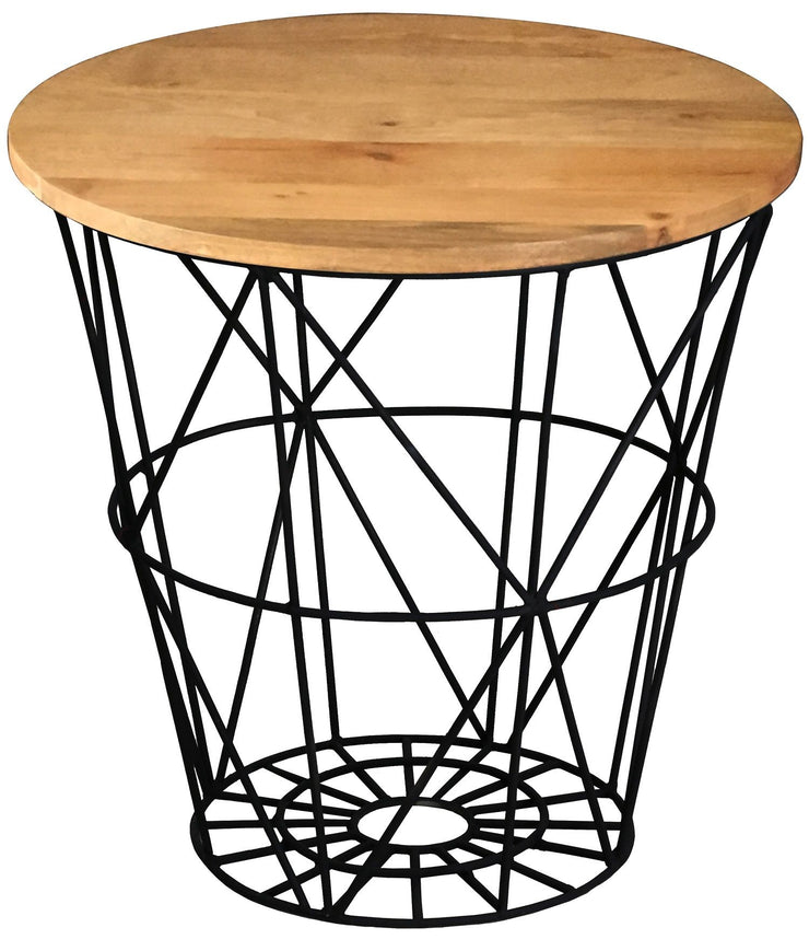 Jaipur Industrial Mango Round Side Table