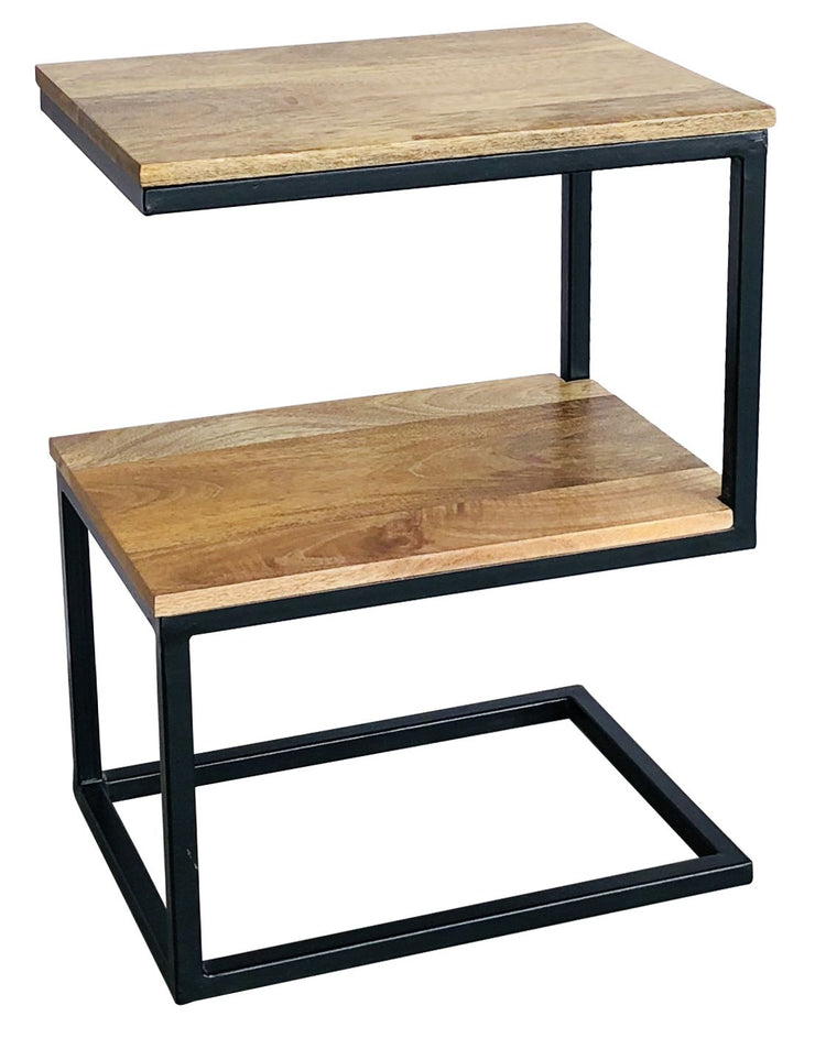 Jaipur Industrial Mango S Shaped Side Table