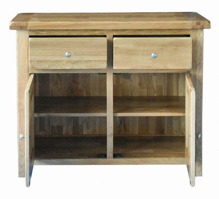 Light Rustic Oak 2 Door Sideboard