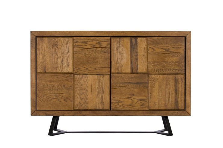 London Oak 2 Door Narrow Sideboard
