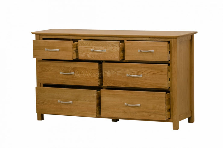 Newland Oak 3 Over 4 Chest of Drawers