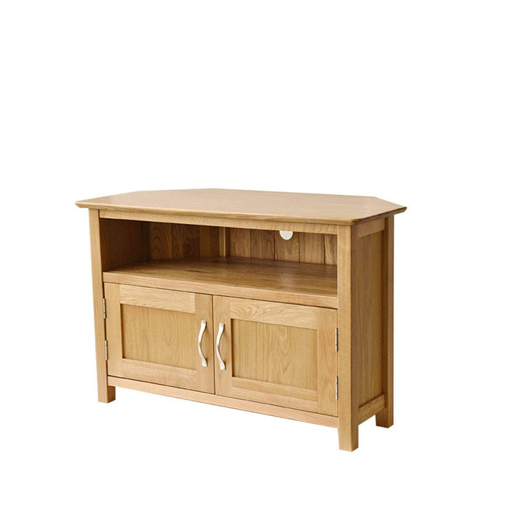 Newland Oak Corner TV Cabinet with Doors
