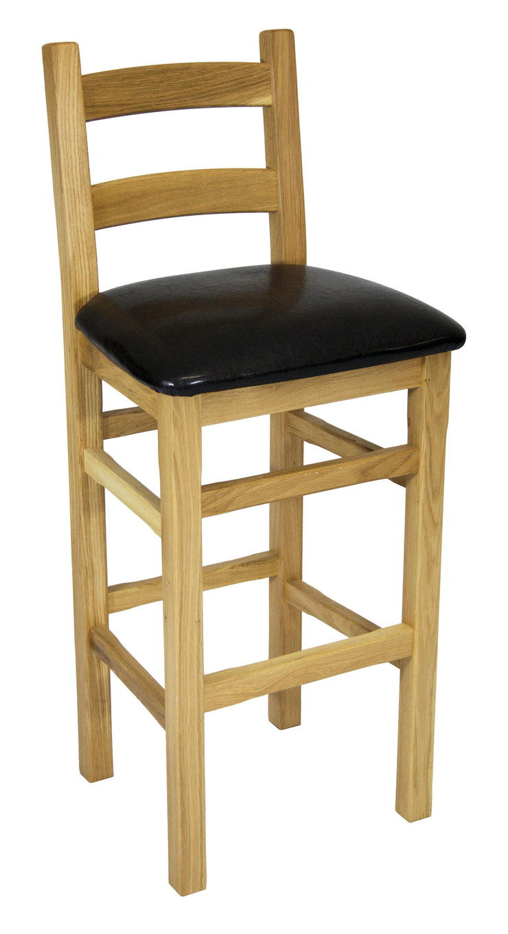 Crofter Brown Pad Bar Stool with Back