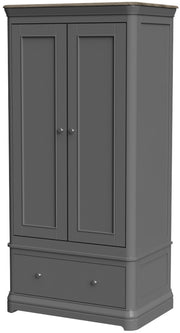 Pebble Double Wardrobe with Drawer