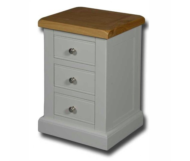 Portland Painted 3 Drawer Bedside Table