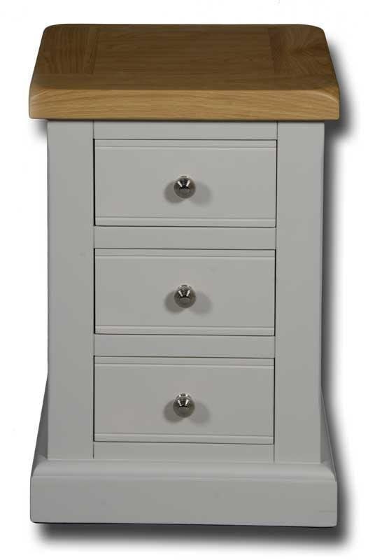 Portland Painted Small 3 Drawer Bedside Table