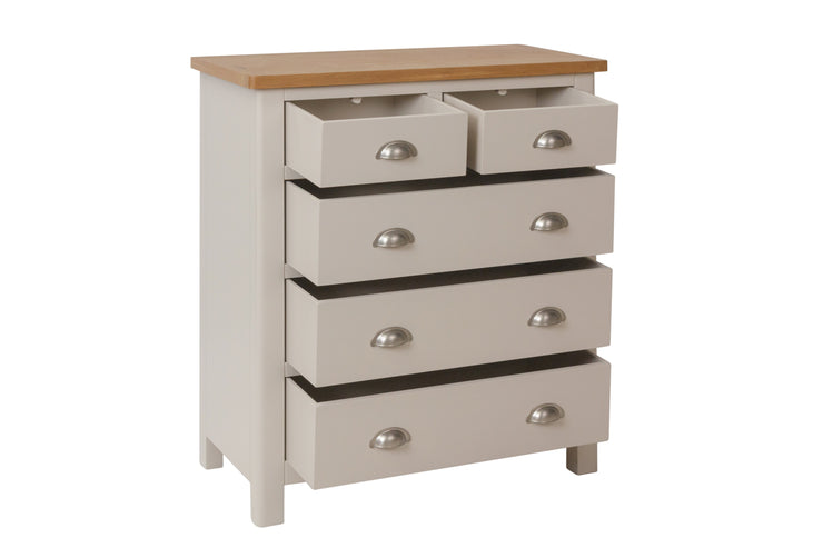 Stratford Truffle Dove Grey Painted 2 Over 3 Chest of Drawers